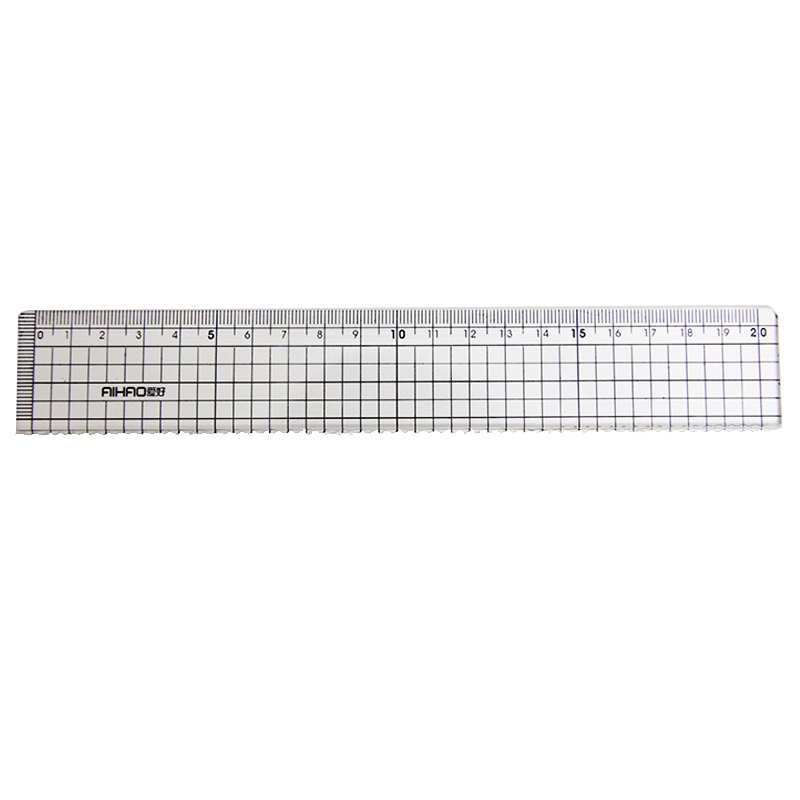 20cm Plastic Ruler Drawing Templates Stationery School Supplies Office Accessories