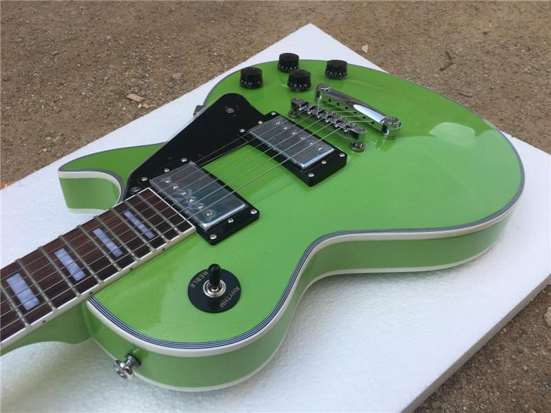 Electric guitar lp custom guitar green color/guitar in china electric guitar 2017 new lp custom oem brand left hand electric guitar guitar in china