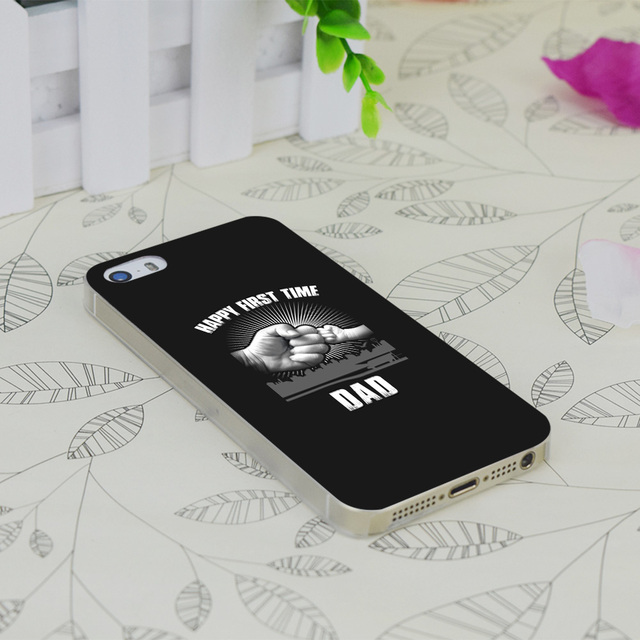 geekoplanet.com - Happy First Time Dad Transparent Cover for Apple IPhone 4 4S 4G 5 5G 5S SE 5C 6 6S Plus