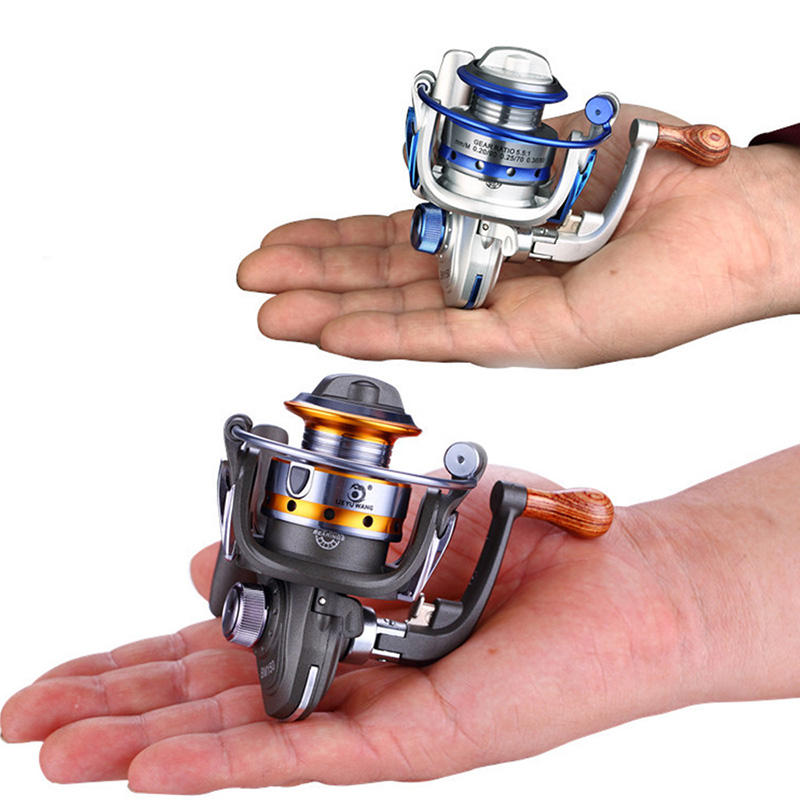 New Fishing Reels MINI 10BB Spinning Wheel Metal 5.5: 1 Exquisite Spinning Reels New Mini-type Fishing Gear Outdoor Tools 150g