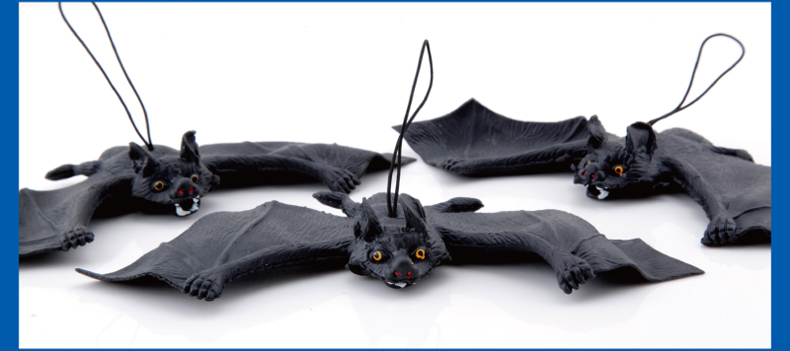 Halloween Gift Supplies The Whole Person Tricky Funny Spoof Toys Soft Imitation Fake Bat Bat Free Shipping