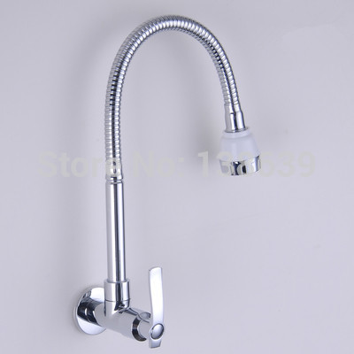 Free Shipping In wall mounted stainless steel kitchen faucet DIY kitchen sink tap Washing machine faucet