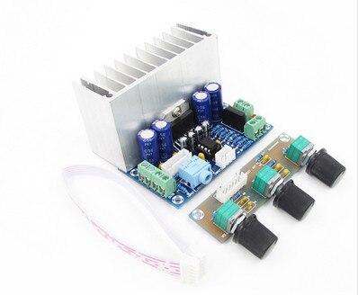 XH-M342 AC/DC12 20W*2+30W PBTL TDA7377 super bass 2.1 channel power amplifier board Subwoofer audio amplifier board