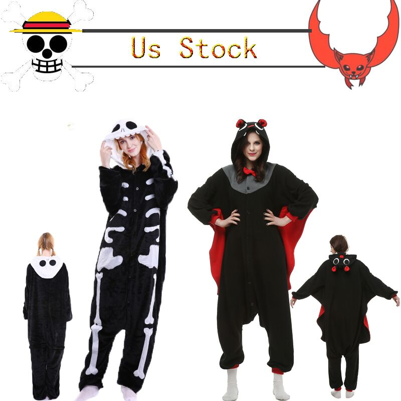 NORIVIIQ US STOCK Cosplay Pyjamas Anime Krigurmi Onesize Unisex Pajamas Animal Costume Fancy Dress Cos Sleepwear
