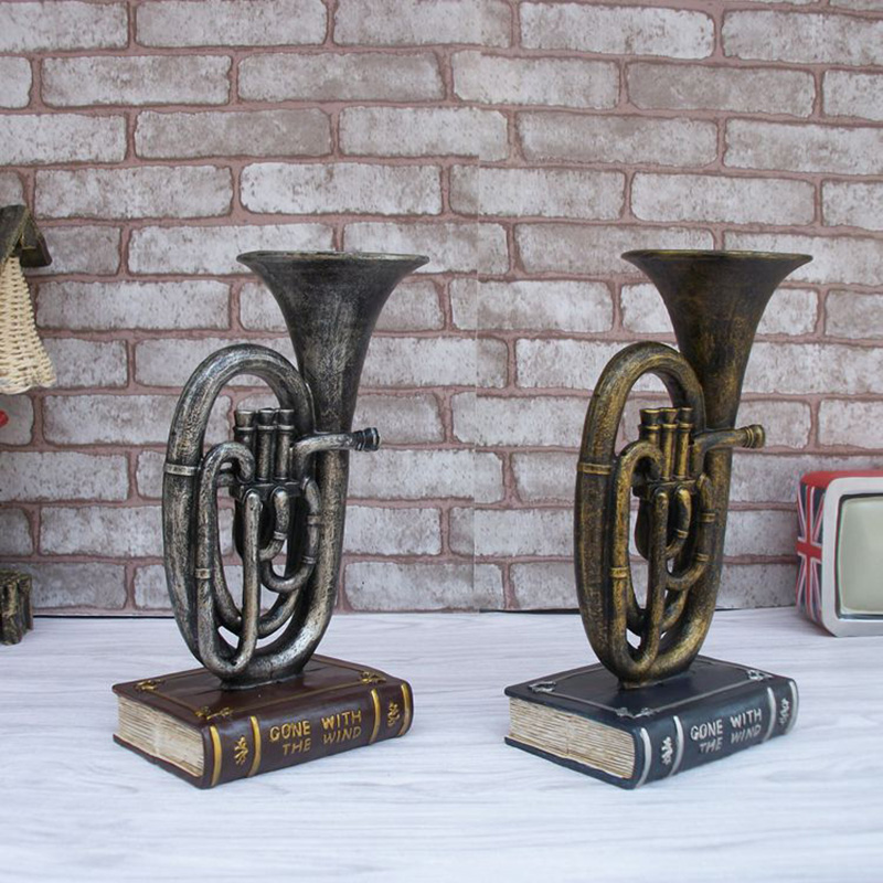 Muzikale saxofoon Model Vintage Desktop hars ambachten Retro Vintage - Huisdecoratie