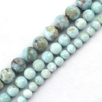 Natural Larimar Copper Pectolite GEM Stone Beads Natural Stone Beads DIY Loose Beads For Jewelry Making