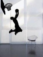 Sport koszykówka naklejki ścienne winylowe koszykówka znikną sway strzał mural art naklejka chłopca sypialnia dekoracji domu dekoracyjne