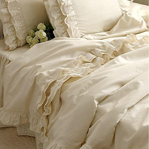 Fadfay Home Textil Girls Korean Ruffle Bedding Sets