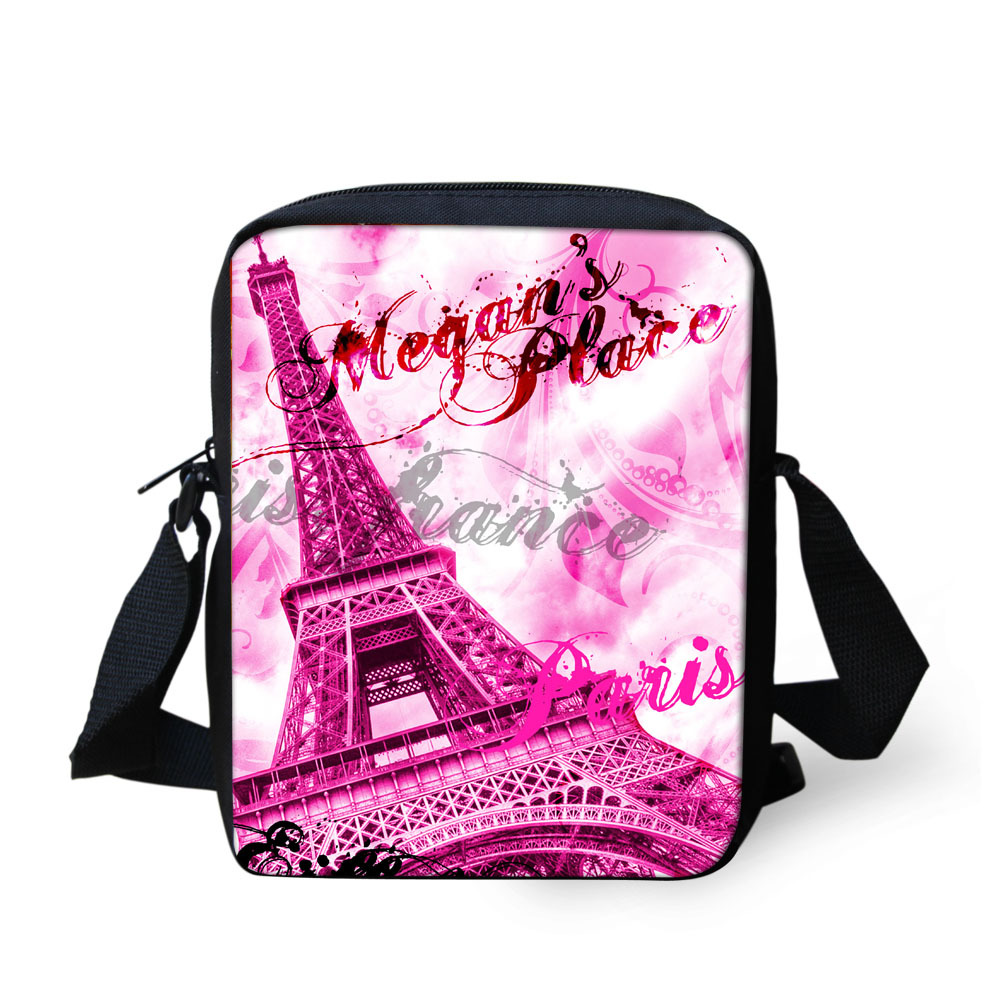 New Small Girls School Bag Canvas Women Shoulder Book Bag Fashion Children Schoolbag Eiffel Tower Design School Bag Mochila Kids ...