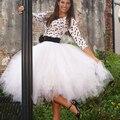 Melhor Qualidade das Mulheres Saia Feminina Saia de Tule Longa American Apparel faldas saia Tutu Saias Das Mulheres Saia de Malha vestido de Baile jupe