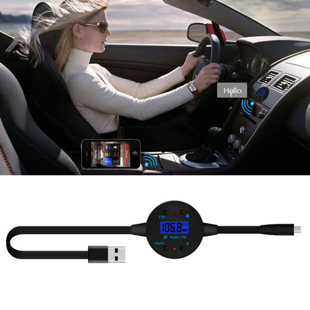 BF-186 Double Wireless Car Vehicle Bluetooth Stereo Audio Transmitter Music Dongle For Mobile Phones For Iphone