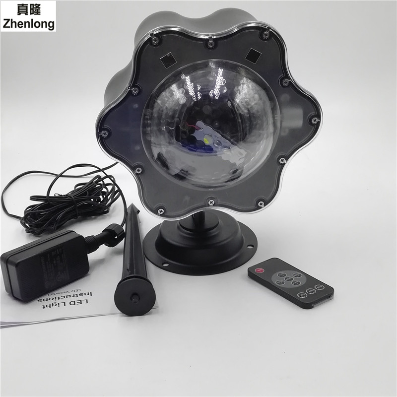 Outdoor Waterproof White Snowflake LED Outdoor Waterproof Lawn Led Laser Projector Lamp with Remote Control LED цена и фото