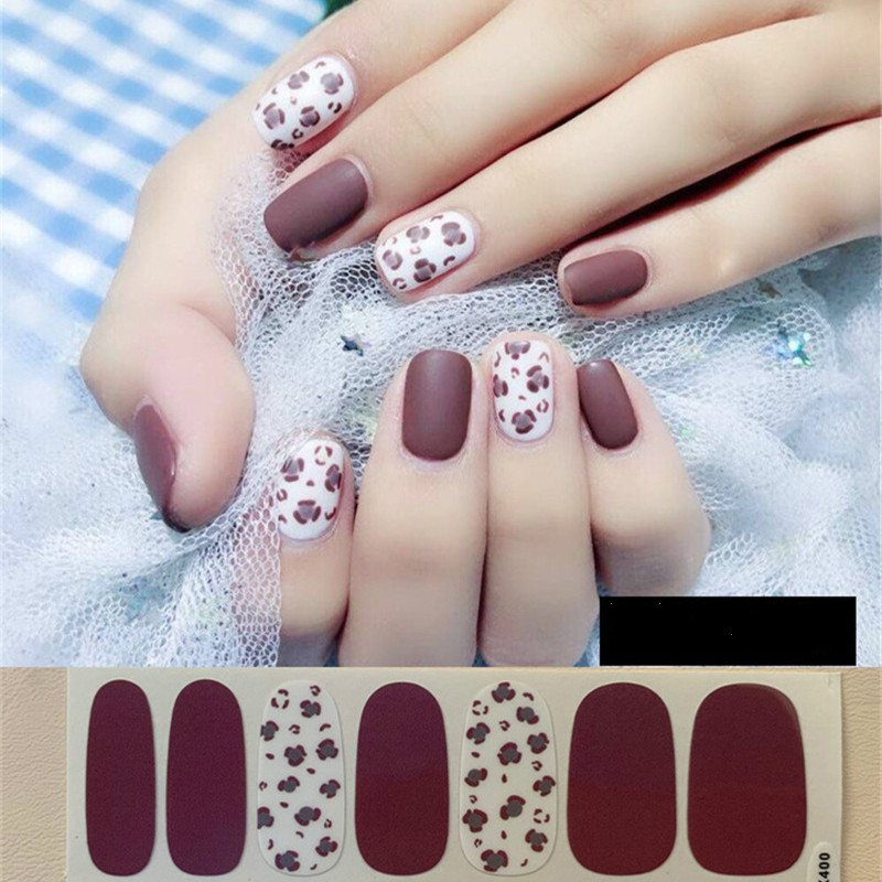 Lamemoria 1pc <font><b>Sexy</b></font> Leopard Designs <font><b>Nail</b></font> Art <font><b>Sticker</b></font> 3D Adhesive <font><b>Stickers</b></font> Decals Beauty Full <font><b>Nail</b></font> Wraps for Ladies Drop Shipping image