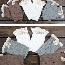 2016 Lace Boot Cuffs knit boot topper lace trim faux legwarmers - lace cuff - shark tank leg warmers 9 colors #3739