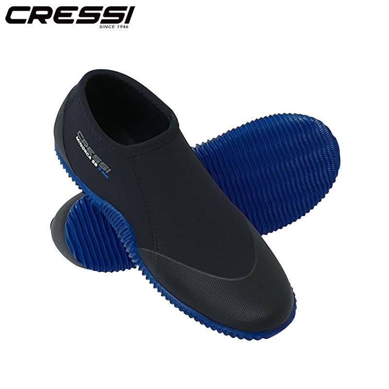 Cressi Minorca Shorty 3MM Diving Boots Scuba Short Dive Shoes for Adults Unisex Elastic Antiscrach