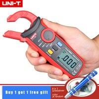 UNI-T ut210b handheld true rms 200a ac mini braçadeira metros amperímetro com ncv profissional multitester & 8 em 1 chave de fenda