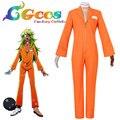 Envío Gratis Cosplay Nanbaka CGCOS Detentionhouse Niko Rock monos Uniforme Nuevo en Stock de Halloween Navidad