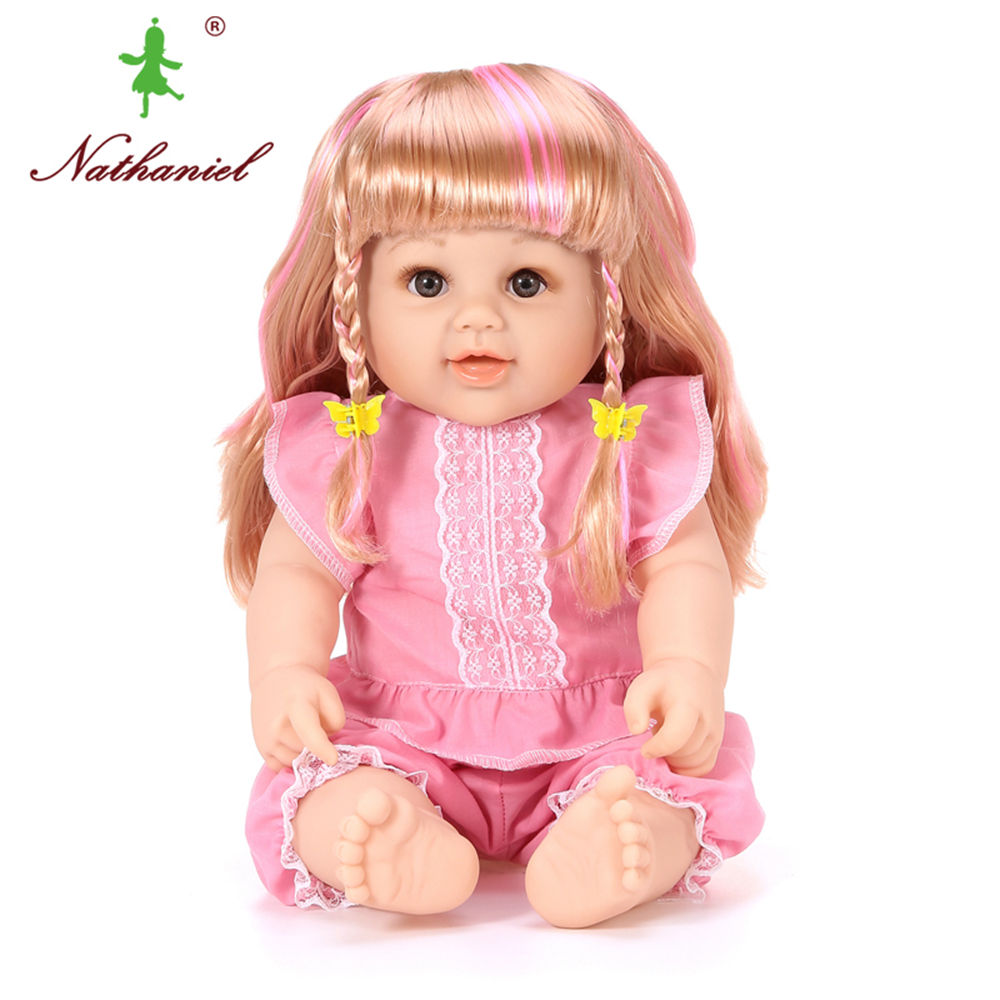 Dolls Npk 18inches Lifelike Reborn Baby Soft Silicone Vinyl Real Touch Doll Lovely Newborn Baby Birthday Gift For Kids Sufficient Supply Toys & Hobbies