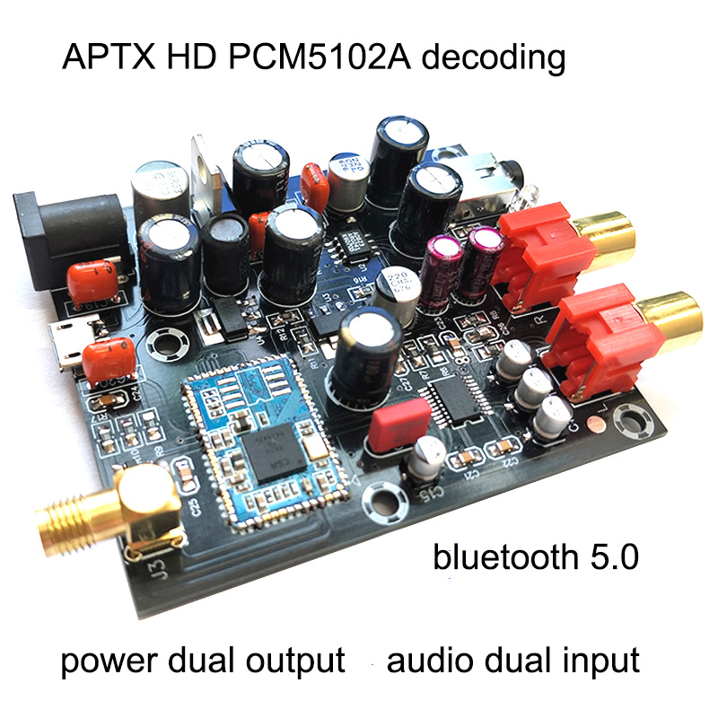 Image 2 - CSR8675 Bluetooth 5.0Receiver Board PCM5102A I2S DAC Decoder Board APTX HD Wireless Audio Module Support 24BIT With Antenna-in Amplifier from Consumer Electronics