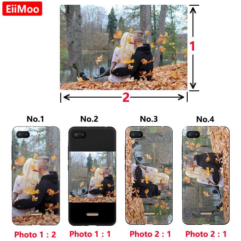 EiiMoo Custom Phone Cover For Xiaomi Redmi 6A 4A 7A 4X 5 Plus S2 Y2 K20 9T Pro Case DIY Picture Photo For Xiomi Redmi Note 6 Pro