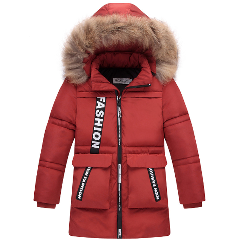 Girls Down & Parkas 2017 Fashion Winter Solid Cotton Fur collar Hooded Kids Girls Jacket Children Clothing Outwear Coats 3dp002 jackets for girls winter cotton down jacket for girl down parkas with fur hooded polka dot outwear coats children s clothing hot