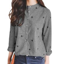 Casual Leaves Sleeve Blouses