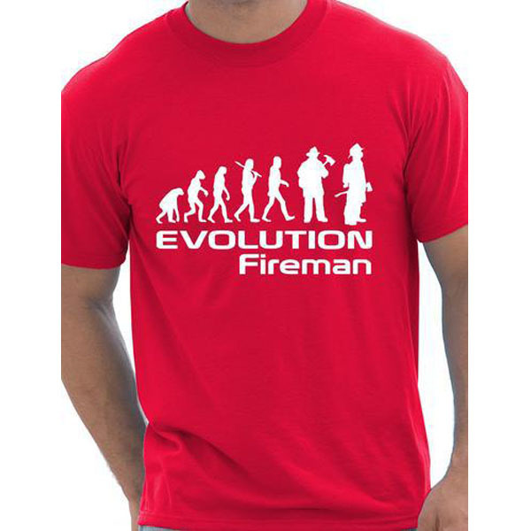 54e18487c Evolution Of A Fireman Firefighter T Shirts Men Trust Me I'm A Firefighter T -shirt Funny Interesting Fire Rescue Gift Tshirts