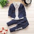 BibiCola autumn Baby Boys Clothing Set Toddler Bib 2pcs uniform Clothes Suit Baby Infant Tracksuit Kids Gentleman Stripe Outfits