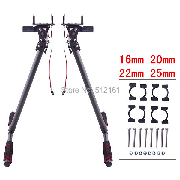 25/22/20/16mm wing tubing HJ-1100P Carbon Fiber Electric Retractable Landing Gear kits for S800/S800 EVO Multicopters hj 1100p universal automatic retractable carbon fiber landing gear electric shrink tripod for diy fpv drones multirotor