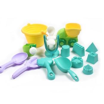 NEW Kids Beach Sand Toys Set Kids Outdoor Toys Beach Bucket Beach Shovel Tool Kit Sandbox Toys for Toddlers Flexible Glue PVC 1