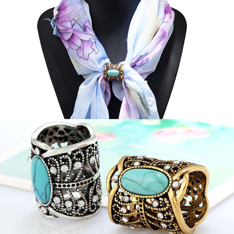 LNRRABC Sale 1 Pc Women Brooch Vintage alloy Bohemia Style Brooch Scarf Clips Lapel Pins Scarf Buckle gifts
