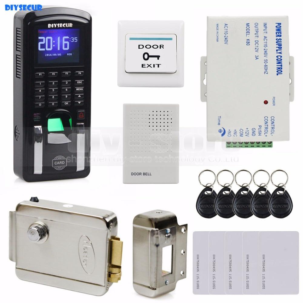 ⑥Diysecur дверной звонок отпечатков пальцев 125 кГц <b>RFID</b> ...