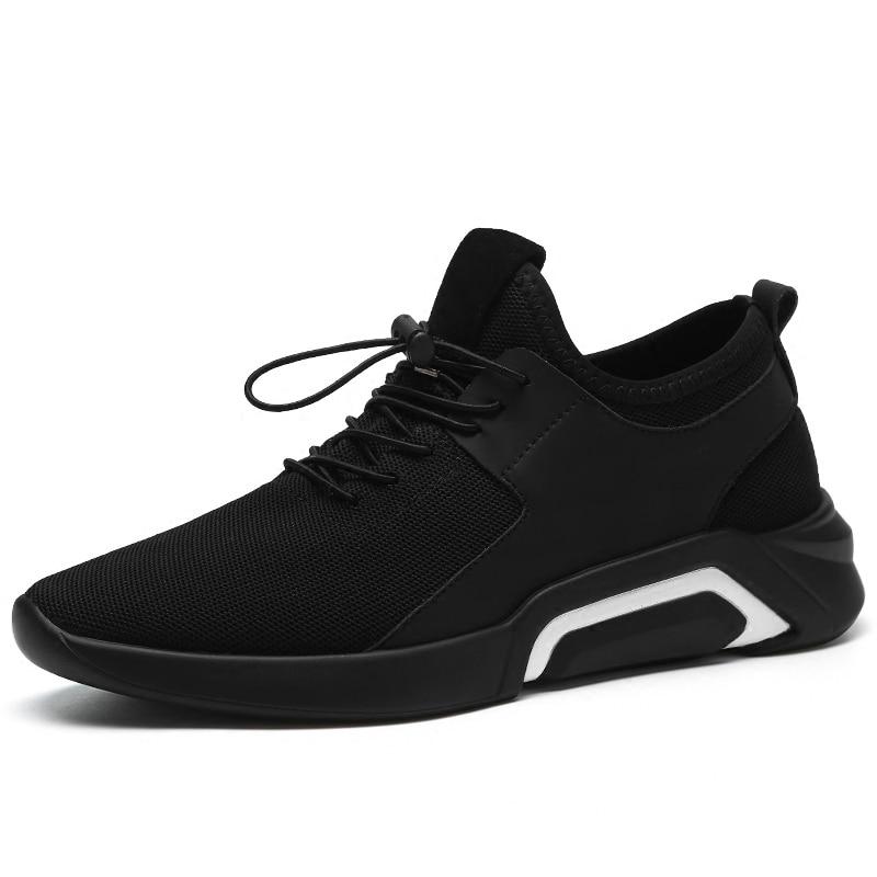 Moda Casuales Transpirable De Encaje blanco Tela Negro Primavera Para Elástica Verano Zapatillas Antideslizante Zapatos 2018 Hombre Malla Nueva pU0q0Adw
