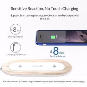 Image 4 - ORICO 10W הכפול מטען אלחוטי Qi טעינה מהירה כרית תואם עבור iPhone 11 פרו Xs מקסימום X Xr 8 אינדוקציה מהיר אלחוטי טעינה