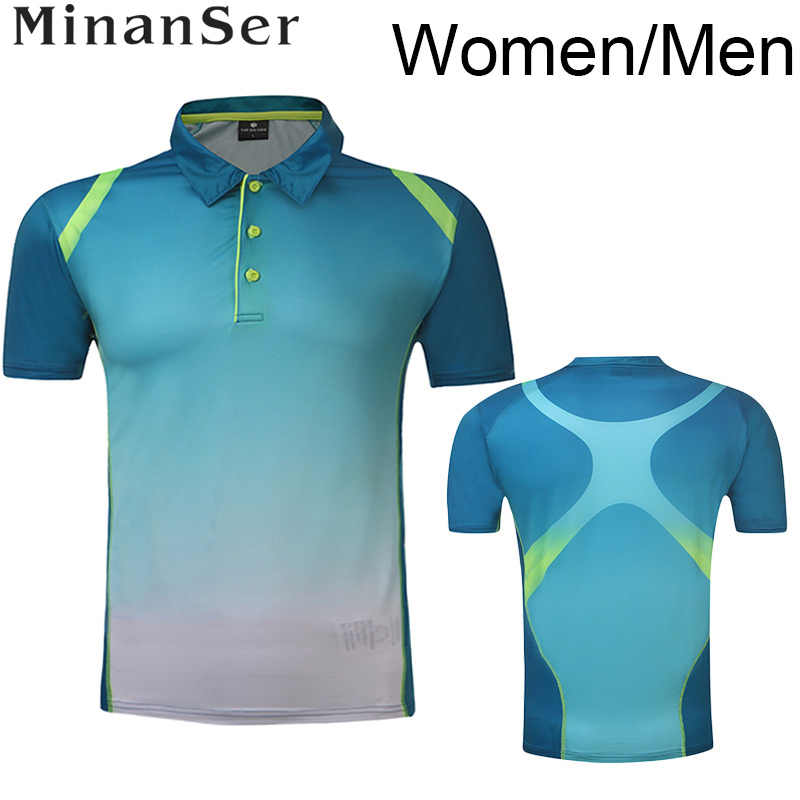 Free Printing Breathable Badminton font b shirt b font Woman Man table tennis font b shirt