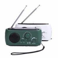 AM FM Radio Hand Crank Dynamo Generator Solar Powered Flashlight Light Charger