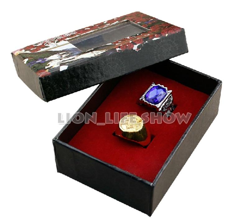 Black Butler Kuroshitsuji Ciel Phantomhive Cosplay 2 Ring Set