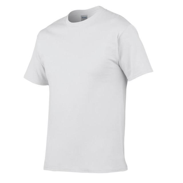 Solid color 100% Cotton T Shirt Mens Black White T-shirts