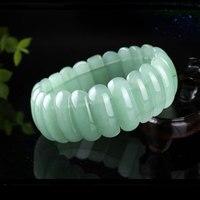 With Certificate Grade A Jade Natural Aventurine Jade Bracelets Carved Green Jade Mens Jewelry Womens Jewelry