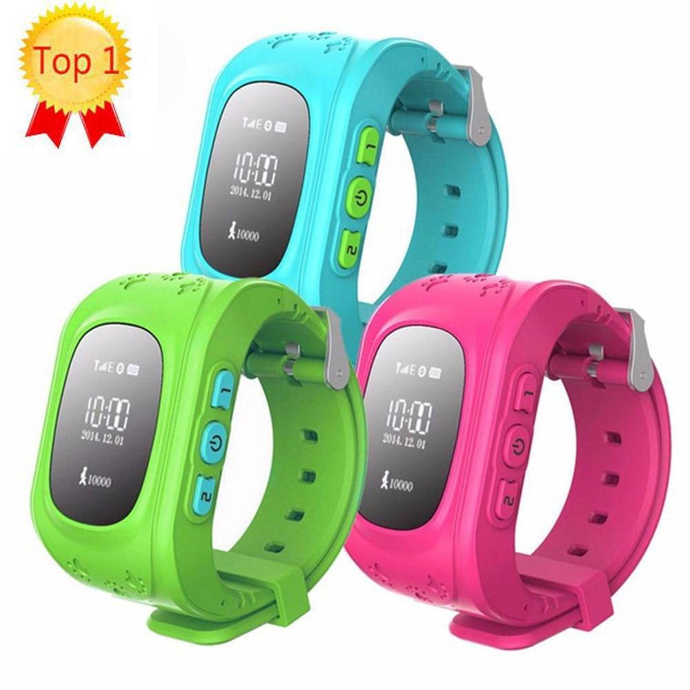imágenes para Caliente Q50 GPS Smart Kid Safe Reloj inteligente Llamada SOS Ubicación Monitor de Localizador Del buscador Del Perseguidor para Perdida Anti Del Niño Bebé Hijo Reloj