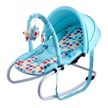 Protable Newborn Baby Comfort Rocking Chair  Easy Folding Swing Cradle Bed Multi-range Adjustment 0-18 Months