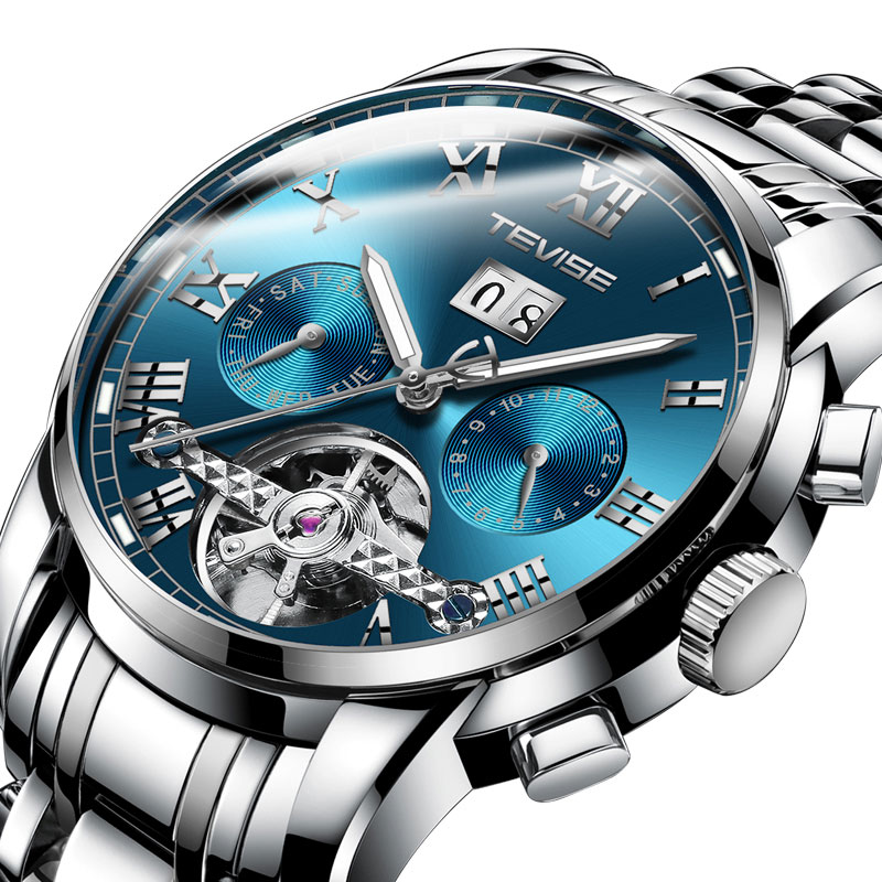 HOT SALE Tevise Automatic Mechanical Watches Moon Phase Steel Clock Mens Wristwatches Relogio MasculinoHOT SALE Tevise Automatic Mechanical Watches Moon Phase Steel Clock Mens Wristwatches Relogio Masculino