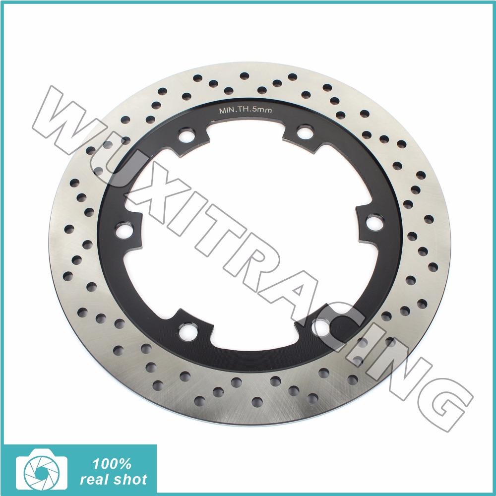 New Round Rear Brake Disc Rotor for KAWASAKI GPX 400 600 R 87-96 ZR 1100 Zephyr RS 92-99 ZRX 1100 96-00 ZX 600 Ninja R 1988-1996 motorcycle front rear brake pads for kawasaki gpx 600 r zx600 1988 1996 gpx 750 r zx750 1987 1989 zr750 1991 1995 zx100 zx10 p04