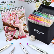 168 Colors Touch mark Sketch Art Markers Brush Set Dual Headed Oily Alcohol Manga Animation Design Drawing Painting Art Supplies art markers set dual headed sketch alcohol drawing pens markers animation manga art supplies