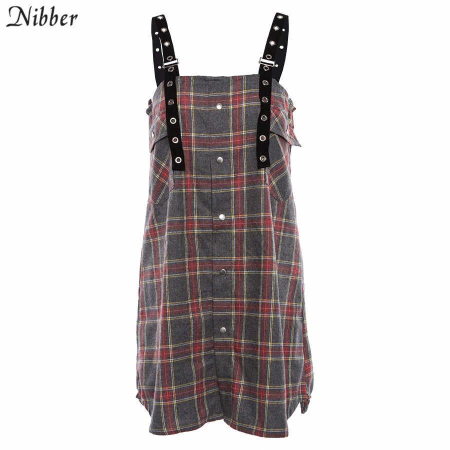 Nibber летнее Новое красное клетчатое свободное облегающее женское платье 2019 новое горячее предложение офисные женские прямые мини платья без рукавов для вечеринок