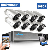8CH CCTV System 1080P 5 IN 1 AHD DVR 8Pcs 2 0MP IR Security Camera Outdoor