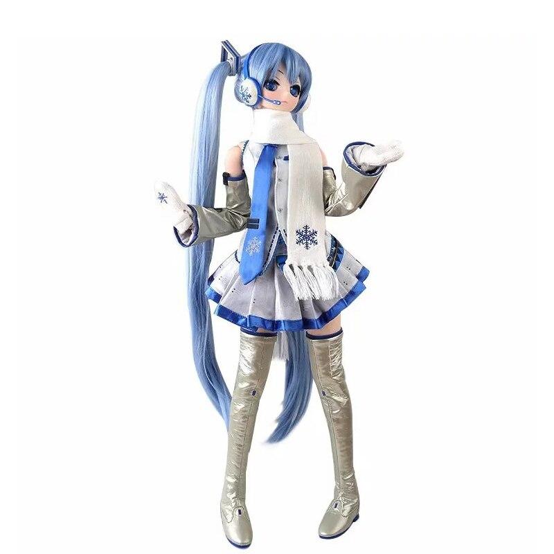 61CM Japan Anime Hatsune Miku Snow Ver Vocaloid Doll Action Figure Change Clothes Ver Model Dolls