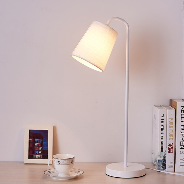Charmant Original Table Lamps Lights Leaf Metal Lamp Body Fabric Lampshade New Desk  Lampe AC110v 220v Led