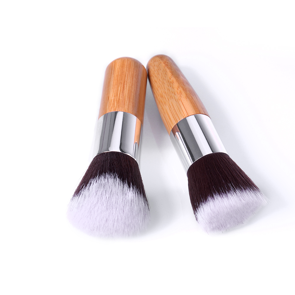 цена на OTWO.O 11 Pieces Makeup Brush Set Bamboo Foundation Blush Concealer Eye Face Liquid Powder Cream Cosmetics Brushes Kit
