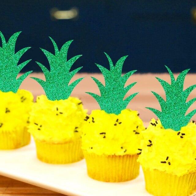 10 piezas de hoja de papel de forma de Castillo de brillo decoración pastel Cupcake Toppers para Halloween fiesta de cumpleaños boda